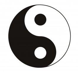 Adesivo Nero Yin Yang