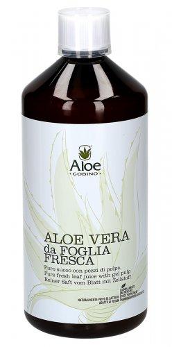 Aloe Vera - Puro Succo e Polpa da Foglia Fresca - Flacone Plastica