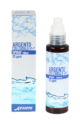 argento colloidale puro spray  Argento Colloidale Plus - Spray 20 ppm Aessere