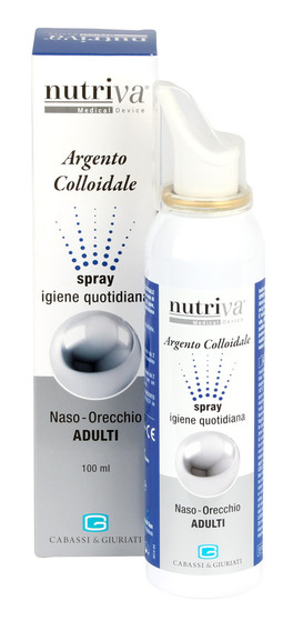 Argento Colloidale Spray Igiene Quotidiana - Naso Orecchio - Adulti