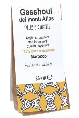 """Argilla Saponifera in polvere Fine """"Gasshoul dei Monti Atlas"""" - Pelle e Capelli"""