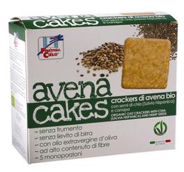 Avena Cakes - Crackers di Avena con Semi di Chia e Canapa