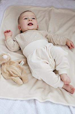 Baby Leggings in Ciniglia di Cotone - Ecru - Wooly Organic ...