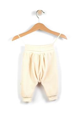 Baby Leggings in Ciniglia di Cotone - Ecru - Wooly Organic (Tatanatura)