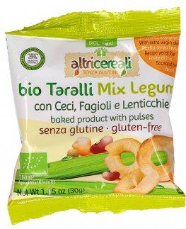 Bio Taralli Mix Legumi - Ceci, Fagioli e Lenticchie