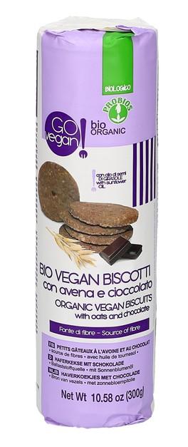 Bio Vegan Biscotti con Avena e Cioccolato