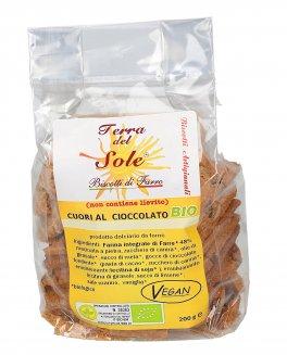 Biscotto Bio Farro - Cuori al Cioccolato