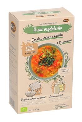 Mix di Materie Prime per Brodo Vegetale con Carota, Sedano e Cipolla