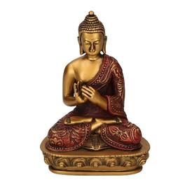 Statuetta del Buddha - Ruota di Dharma