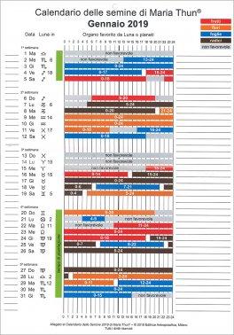 Calendario Trapianti Orto Pdf.Calendario Delle Semine Di Maria Thun 2019 Calendario
