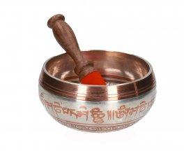 Campana Tibetana Argento e Rame con Bastoncino