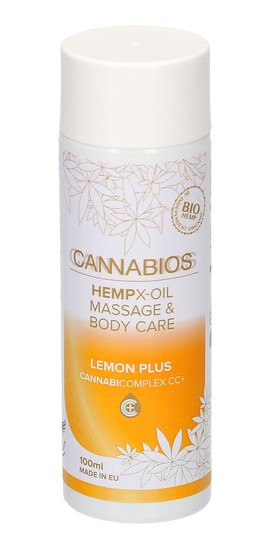 Cannabios Hempx-oil Massage & Body Care - Lemon Plus