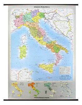Cartina Fisica Italia Leggibile.Carta Murale Italia Fisica Politica Fronte Retro Libro