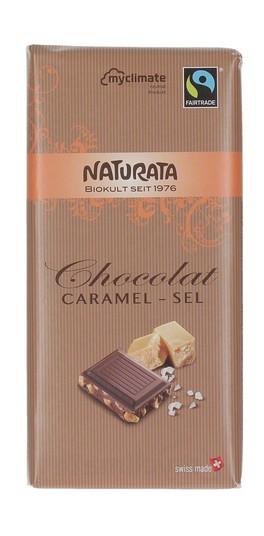 Chocolat Caramel - Sel - Tavoletta di Cioccolato Fondente con Caramello e Sale Marino