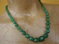 Collana in Smeraldo naturale pietre a scalare facet - Cod 16