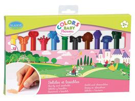 Colors Baby Principesse - 12 Pastelli a Cera