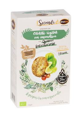 Preparato per Cotoletta Vegetali con Quinoa e Lenticchie Rosse