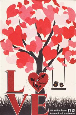 Ecopostcard Cartolina Ecologica - Love