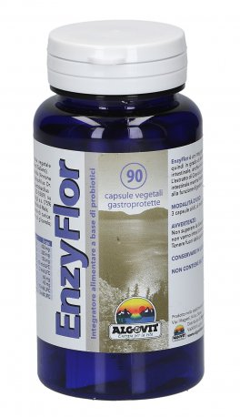 Enzyflor - Integratore di Enzimi e Probiotici in Capsule Vegetali