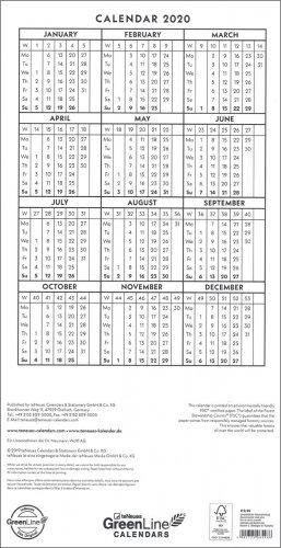 Calendario 2020 Con Numero Delle Settimane.Floral Family Planner Calendario 2020 Calendario