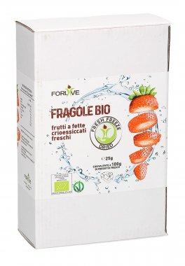 Fragole Bio a Fette Crioessiccate Fresche