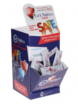 "Gel Attivo Mani ""Safe"" - Box 100 Stick Monouso"