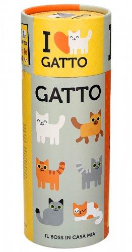 I Love Gatto - Manuale, Lenza da Gioco, Guanto Spazzola, Pallina Sonaglio Colorata