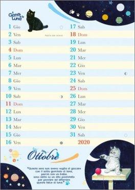 Calendario Lunare Ottobre 2020.Il Gatto E La Luna Calendario Da Tavolo 2020 Calendario