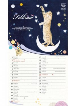 Calendario Lunare Capelli Febbraio 2020.Il Gatto E La Luna Calendario Medio 2020 Calendario