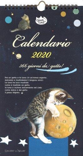 Calendario Lunare Gravidanza 2020.Il Gatto E La Luna Calendario Medio 2020 Calendario