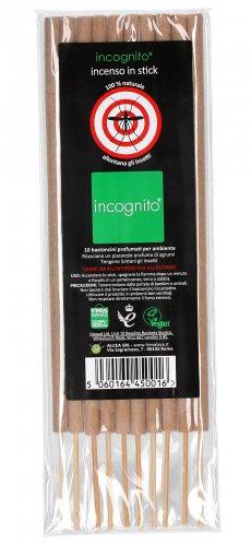 Incognito - 10 Bastoncini Profumati per Ambiente - Antizanzare