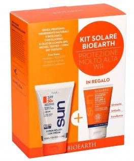 Kit Solare Bioearth - Protezione Molto Alta WR - Crema Solare + Shampoo Doccia in Regalo