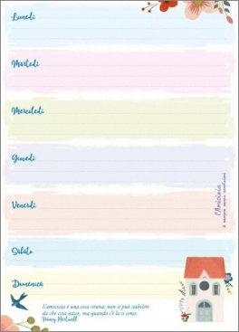 Calendario Per Appunti.L Amicizia Settimanale Di Appunti Importanti Calendario