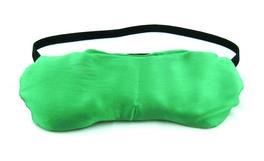 Maschera Relax Occhi con 130 g di Shungite e 200 g di Lino Bio in Pura Seta Shantung Verde
