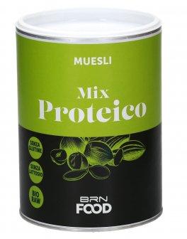 Muesli Mix Proteico Bio-Raw, Senza Glutine, Low Carb, Senza Zuccheri Aggiunti