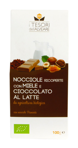 Nocciole Piemonte Bio con Miele e Cioccolato al Latte - 100 g