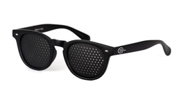 Occhiale Stenopeico con Lenti Rotonde - Mod Dream Black - Nero opaco