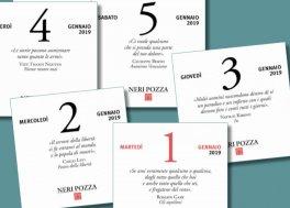 Calendario A Strappo.Omaggio Calendario Letterario Neri Pozza 2019