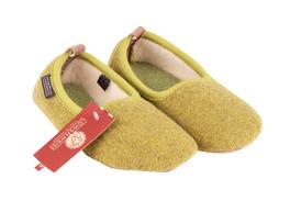 Pantofola Con Suola Toppe - Pura Lana - Verde Mela - Taglia 25 ... 0c55ec7b225