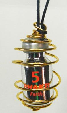 Pendente Bhakti - Gabbietta Spirale Dorata