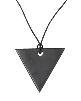 Pendente di Shungite Lucida - Triangolo Donna