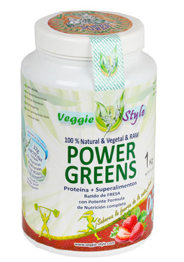 Power Greens - Proteina + Superfood - Gusto Fragola