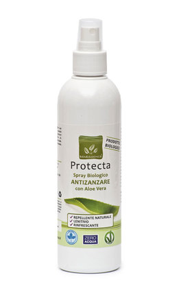 Protecta - Spray Biologico Antizanzare con Aloe Vera