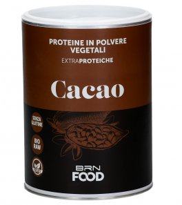 Proteine Vegetali in Polvere al Cacao, Bio-Raw e Senza Glutine