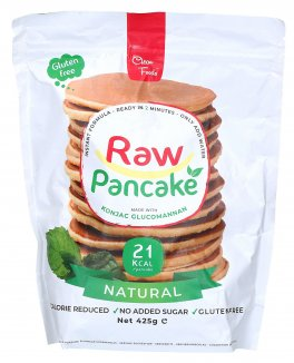 Raw Pancake - Preparato Ipocalorico per Pancake 100% Naturale, Low Carb, Gusto Neutro