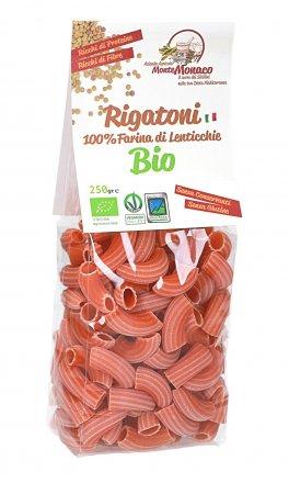 Rigatoni 100% di Farina di Lenticchie Bio, Italiane, Macinate a Pietra