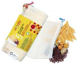 Sacchetti Frutta e Verdura Riutilizzabili in Cotone