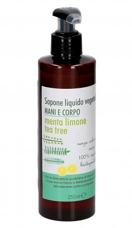 Sapone Liquido Vegetale Menta Limone e Tea Tree