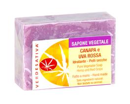 Sapone Vegetale Canapa e Uva Rossa - 100 g