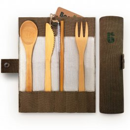 Set Posate in Bambu - Bamboo Cutlery Set